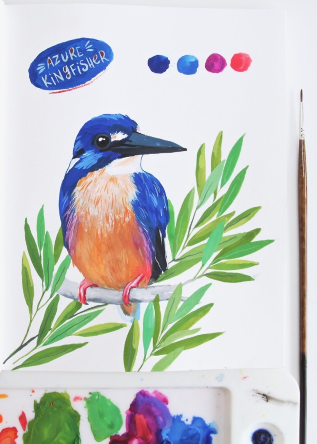 Azure Kingfisher by Deanna Maree