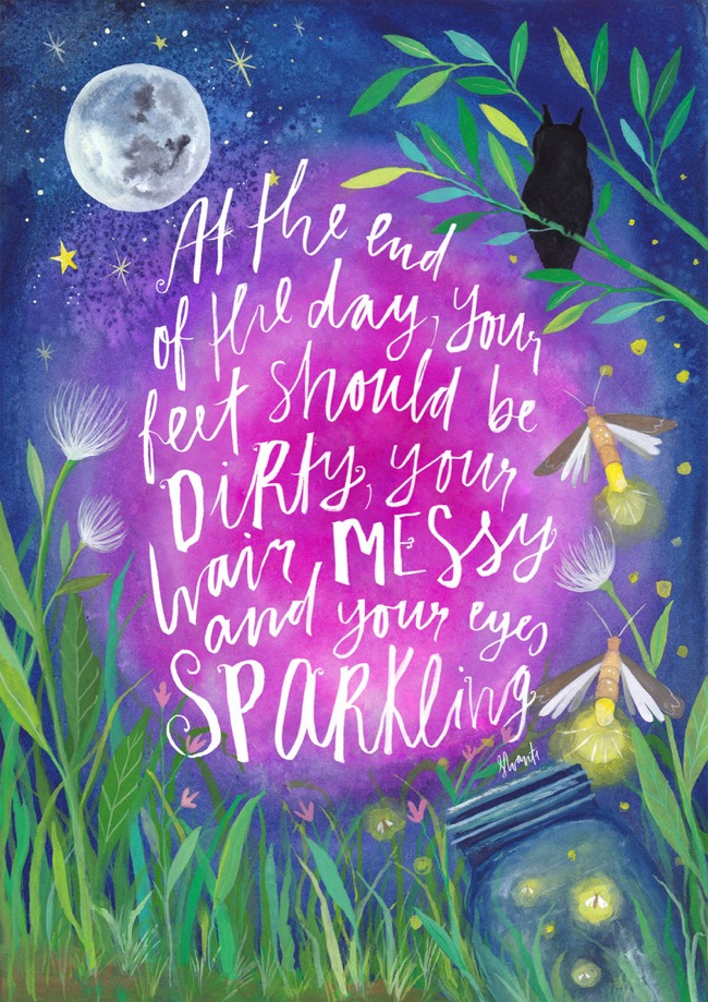 Illustrated quote, artwork by Deanna Maree