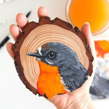 26) Flame Robin