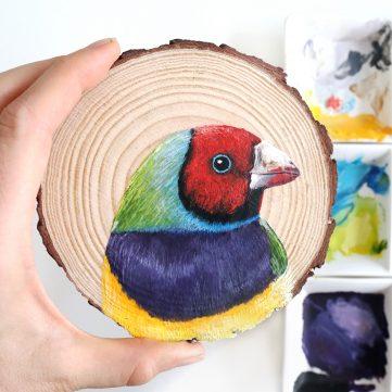 3) Gouldian Finch