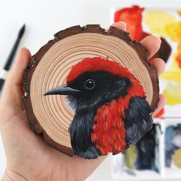 45) Scarlet-backed Flowerpecker